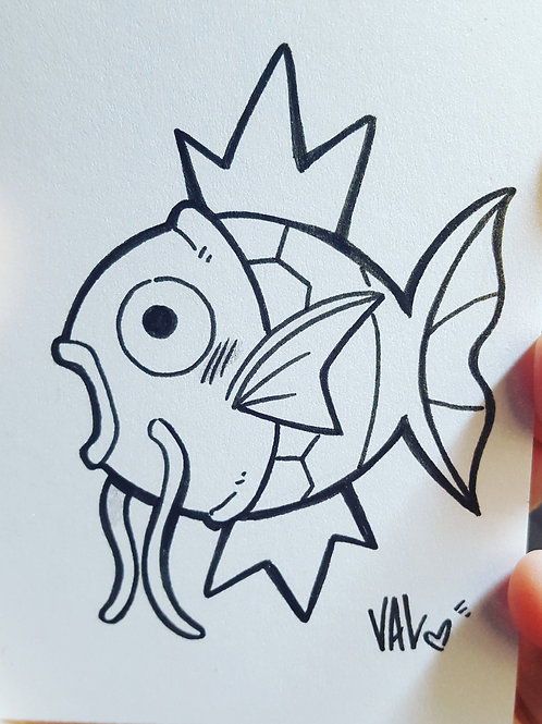 #129 - Magikarp - Pokemon Art Card