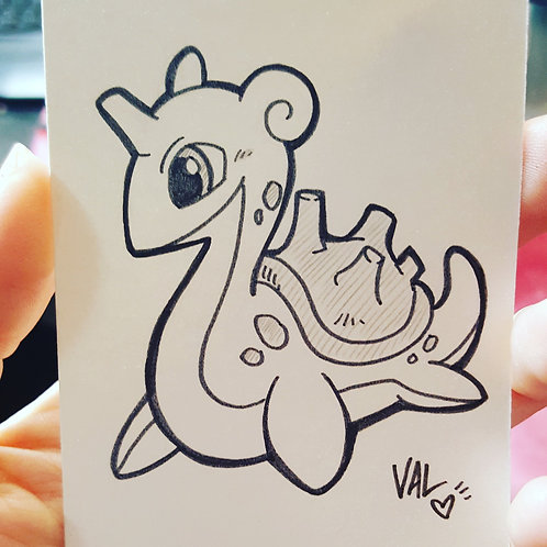 #131 - Lapras - Pokemon Art Card