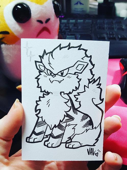 #059 - Arcanine - Pokemon Art Card