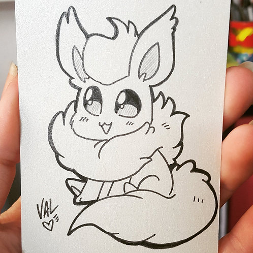 #136 - Flareon - Pokemon Art Card