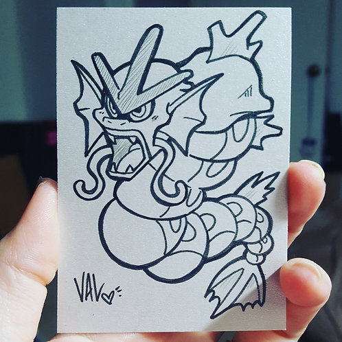 #130 - Gyarados - Pokemon Art Card
