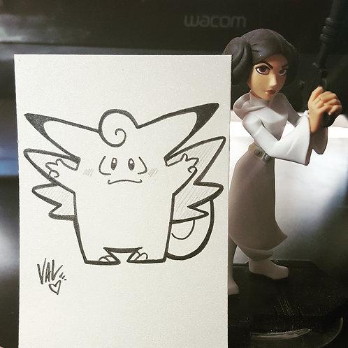 #036 - Clefable - Pokemon Art Card