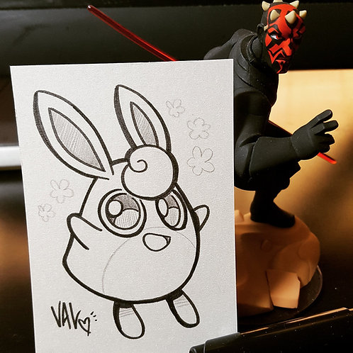 #040 - Wigglytuff - Pokemon Art Card