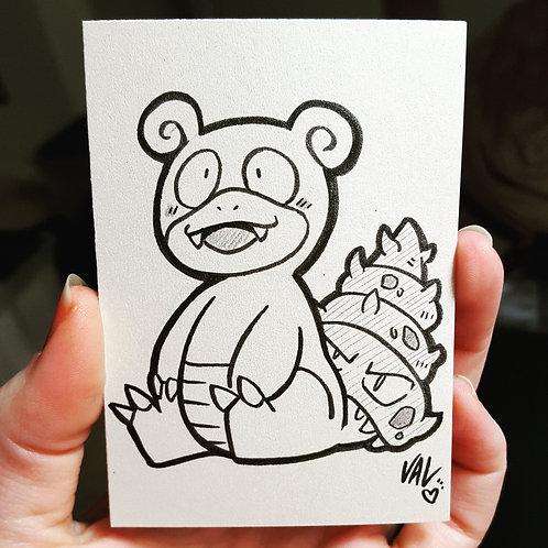 #080 - Slowbro - Pokemon Art Card