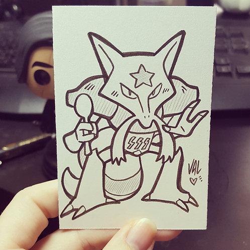 #064 - Kadabra - Pokemon Art Card
