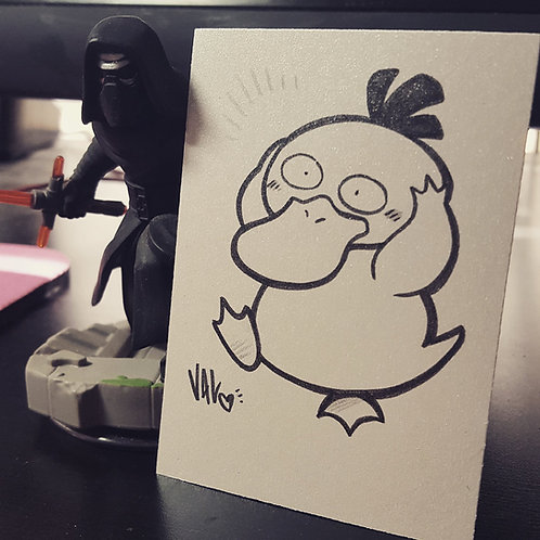 #054 - Psyduck - Pokemon Art Card