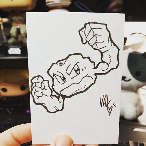 #074 - Geodude - Pokemon Art Card