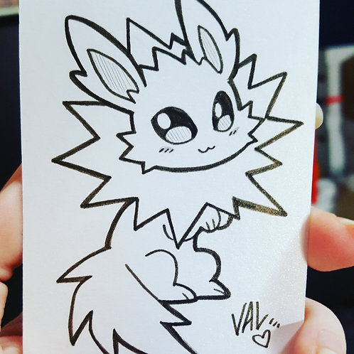 #135 - Jolteon - Pokemon Art Card