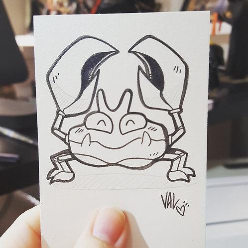 #098 - Krabby - Pokemon Art Card