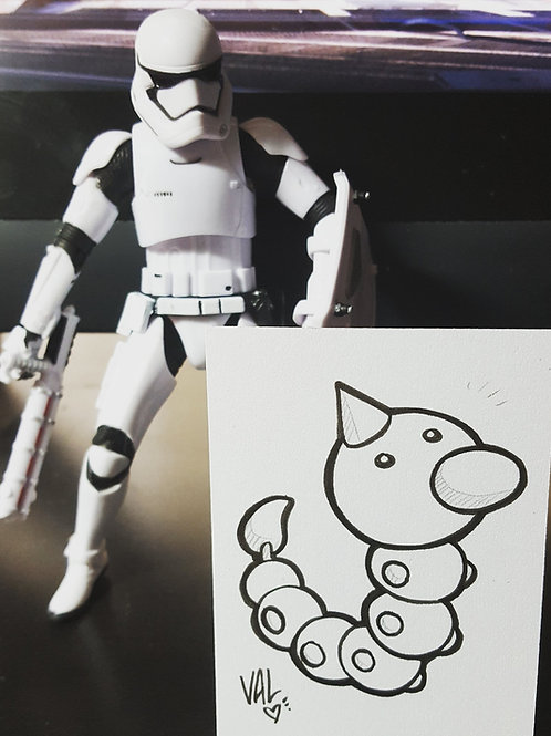 #013 - Weedle - Pokemon Art Card