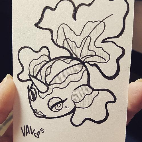 #118 - Goldeen - Pokemon Art Card