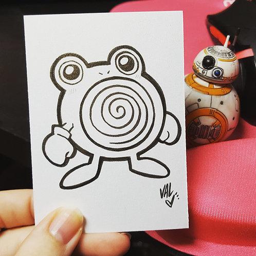 #061 - Poliwhirl - Pokemon Art Card