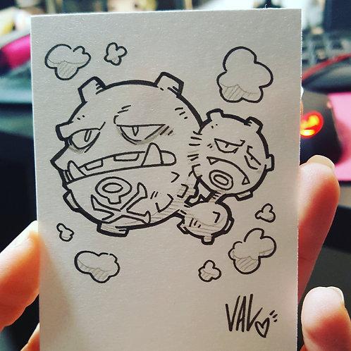 #110 - Weezing - Pokemon Art Card