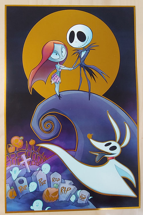 Gold Foil - Nightmare Before Christmas - Large Print