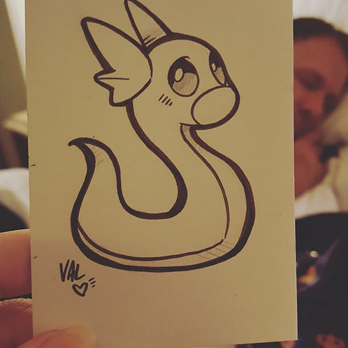 #147 - Dratini - Pokemon Art Card