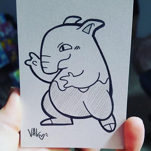 #096 - Drowzee - Pokemon Art Card
