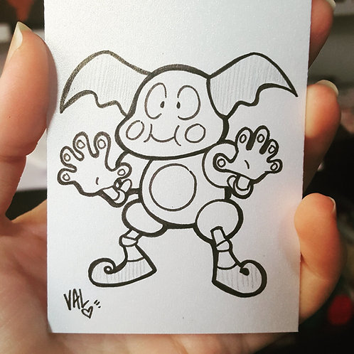 #122 - Mr. Mime - Pokemon Art Card