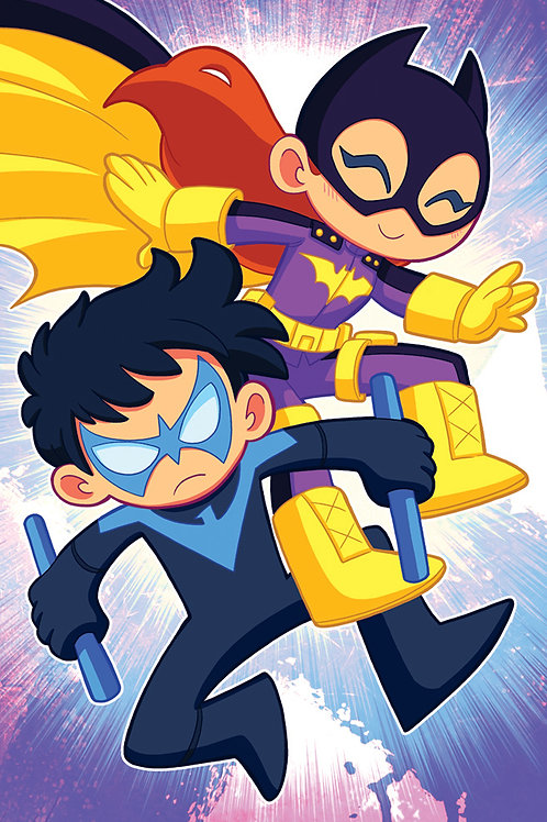 Nightwing and Batgirl - Mini Print
