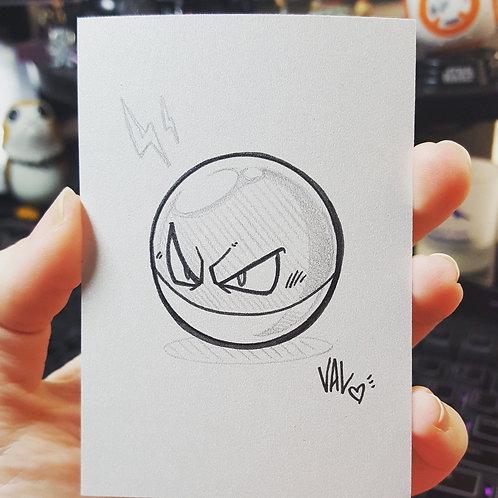 #100 - Voltorb - Pokemon Art Card