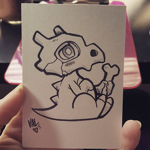 #104 - Cubone - Pokemon Art Card