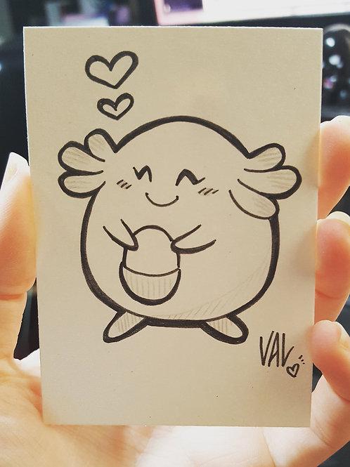 #113 - Chansey - Pokemon Art Card
