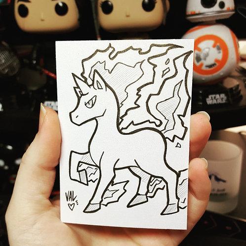 #078 - Rapidash - Pokemon Art Card