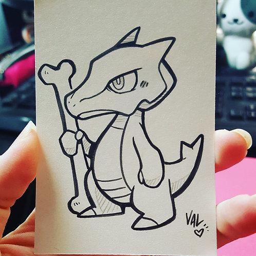 #105 - Marowak - Pokemon Art Card
