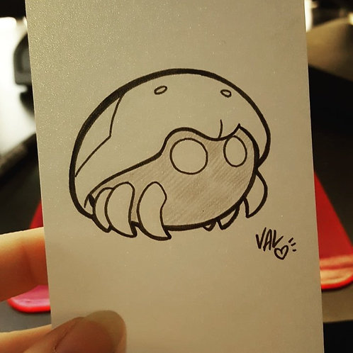 #140 - Kabuto - Pokemon Art Card