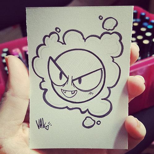 #092 - Gastly - Pokemon Art Card