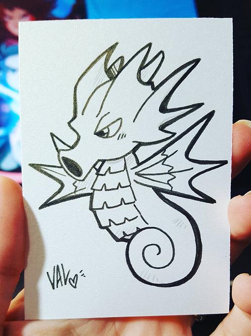 #117 - Seadra - Pokemon Art Card