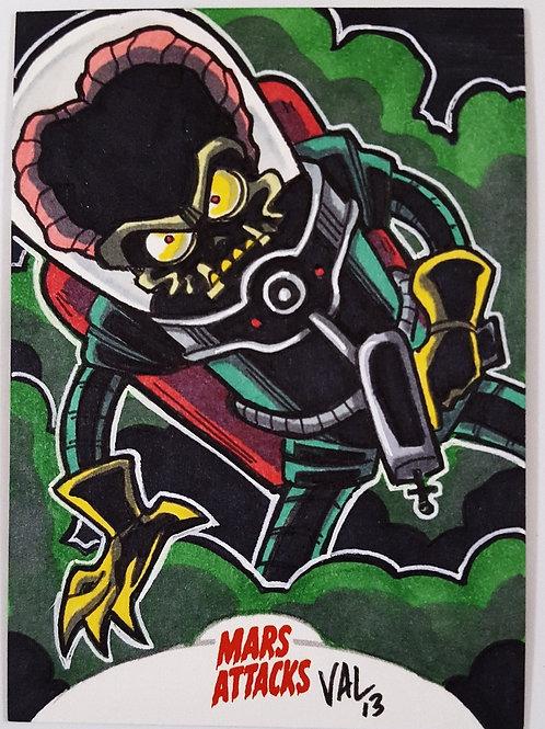 Mars Attacks 2013 Artist Return Card