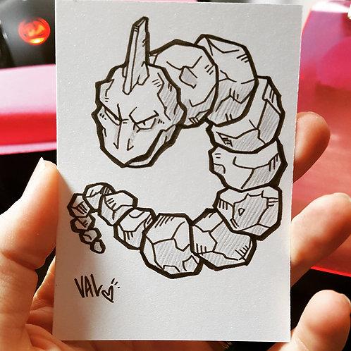 #095 - Onix - Pokemon Art Card