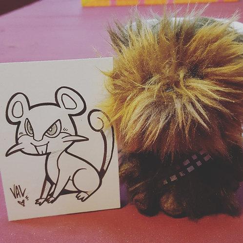 #019 - Rattata - Pokemon Art Card