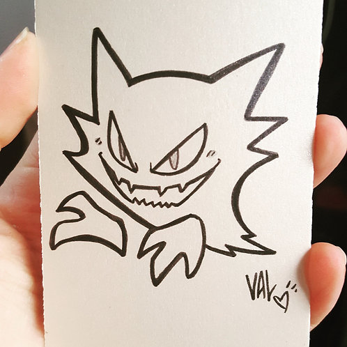 #093 - Haunter - Pokemon Art Card