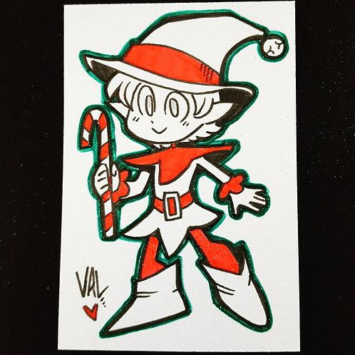 Christmas Elf Zero - Daily Doodle