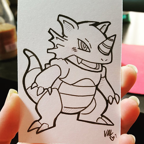 #112 - Rhydon - Pokemon Art Card