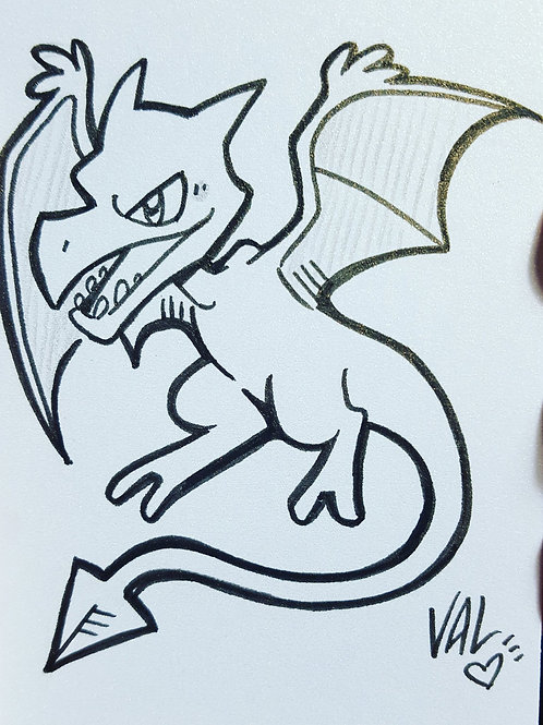#142 - Aerodactyl - Pokemon Art Card