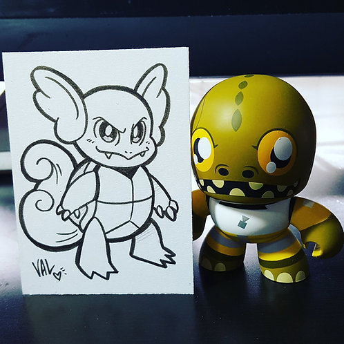 #008 - Wartortle - Pokemon Art Card