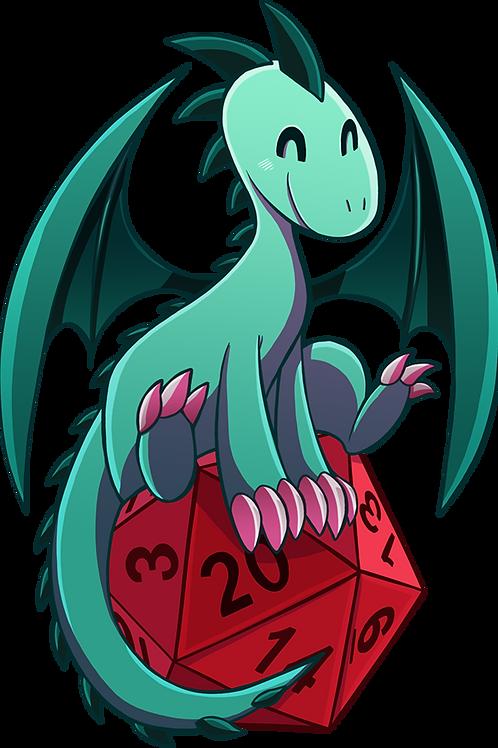 D20 Dragon - D&D - Sticker