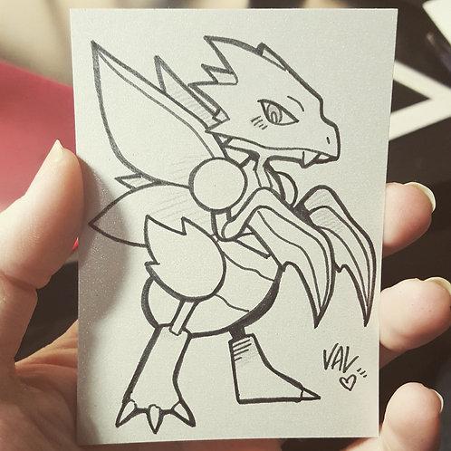 #123 - Scyther - Pokemon Art Card