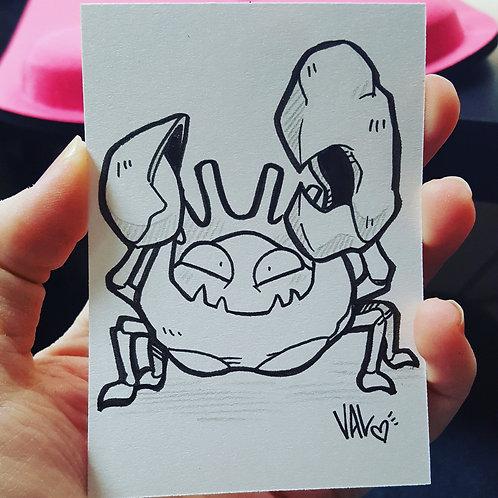 #099 - Kingler - Pokemon Art Card