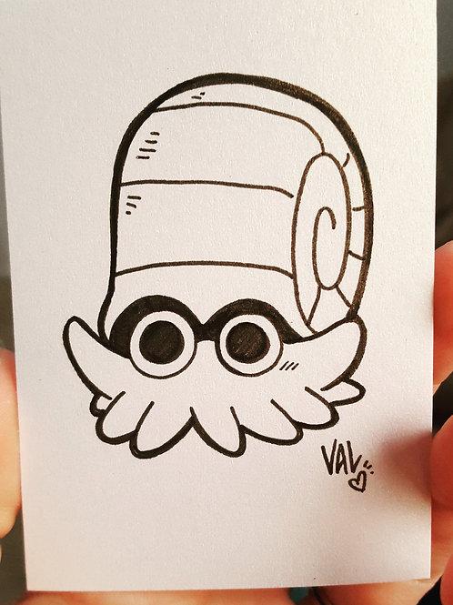 #138 - Omanyte - Pokemon Art Card