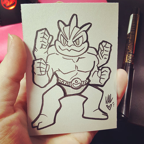 #068 - Machamp - Pokemon Art Card