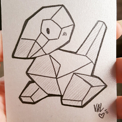 #137 - Porygon - Pokemon Art Card