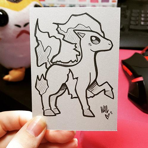 #077 - Ponyta - Pokemon Art Card