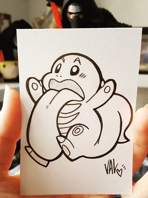 #108 - Lickitung - Pokemon Art Card