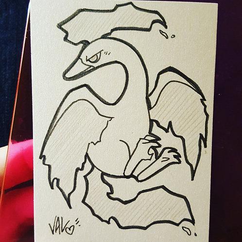 #146 - Moltres - Pokemon Art Card
