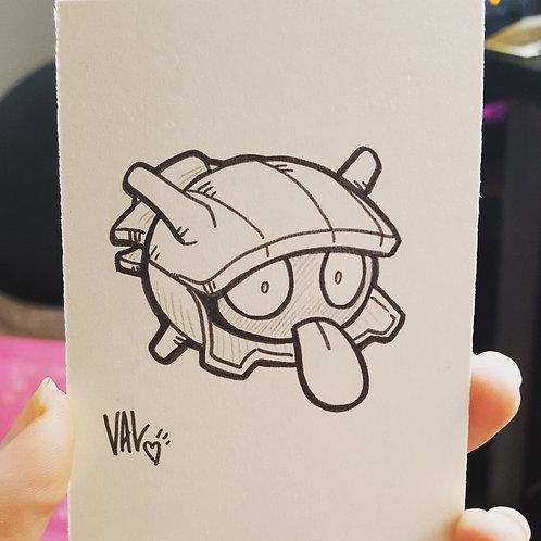 #090 - Shellder - Pokemon Art Card