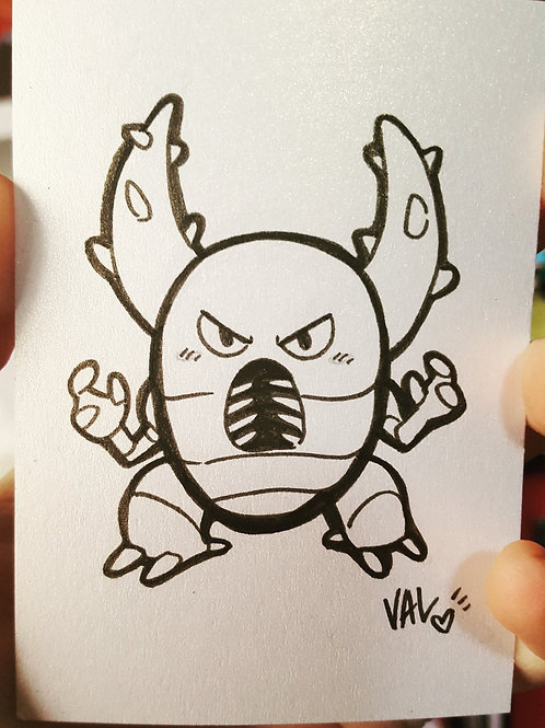#127 - Pinsir - Pokemon Art Card