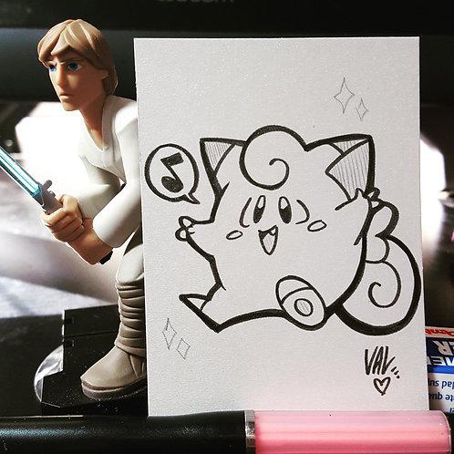 #035 - Clefairy - Pokemon Art Card